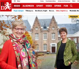 Joke van Zutphen en Anja Bekkers, Stichting Solidair met India, Abdij van Berne, Heeswijk-Dinther