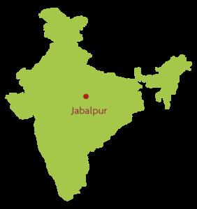 Japalpur op de kaart van India